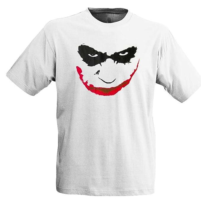 Batman - Camiseta - Cara de Joker - blanco - unisex - L: Amazon.es: Ropa y accesorios
