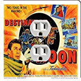 Rikki Knight 3705 Outlet Vintage Movie Posters Art destination Moon 2 Design Outlet Plate
