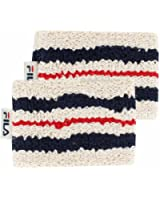 fila retro headband. fila unisex retro comfort tennis wristbands headband