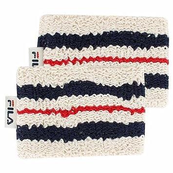 ba4c2335aa8 Amazon.com: Fila Unisex Retro Comfort Tennis Wristbands O/S BEIGE ...