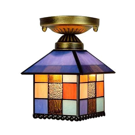 Ronghuafugui 8 pulgadas Tiffany Style Lámpara de techo ...