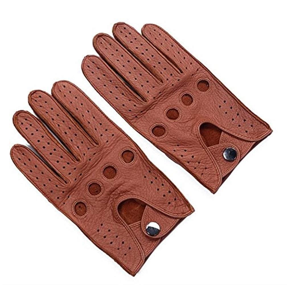 Saoye Fashion Männer Fahren Leder Handschuhe Soft Deerskin Vollfinger Handschuhe Classic Motorrad Einfache Radfahren Reiten Handschuhe S Xl