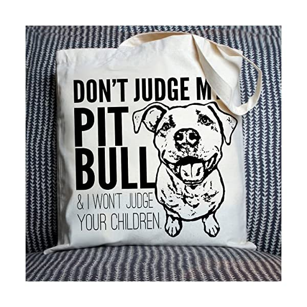 Don't Judge My Dog Tote Bag by Pet Studio Art 4