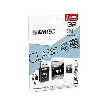 Emtec Classic Memoria Flash 32 GB MicroSDHC Clase 10 ...