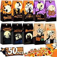 Halloween Treat Bags 56 Pcs Candy Trick or Treat Bags Goodie Party Favors Gift for Boys Girls Halloween Decora