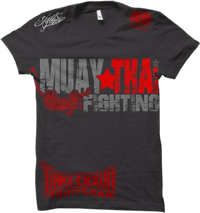 ART/' FIGHT MUAY THAI KICK BOXING UFC T-SHIRT BRAND NEW BLACK