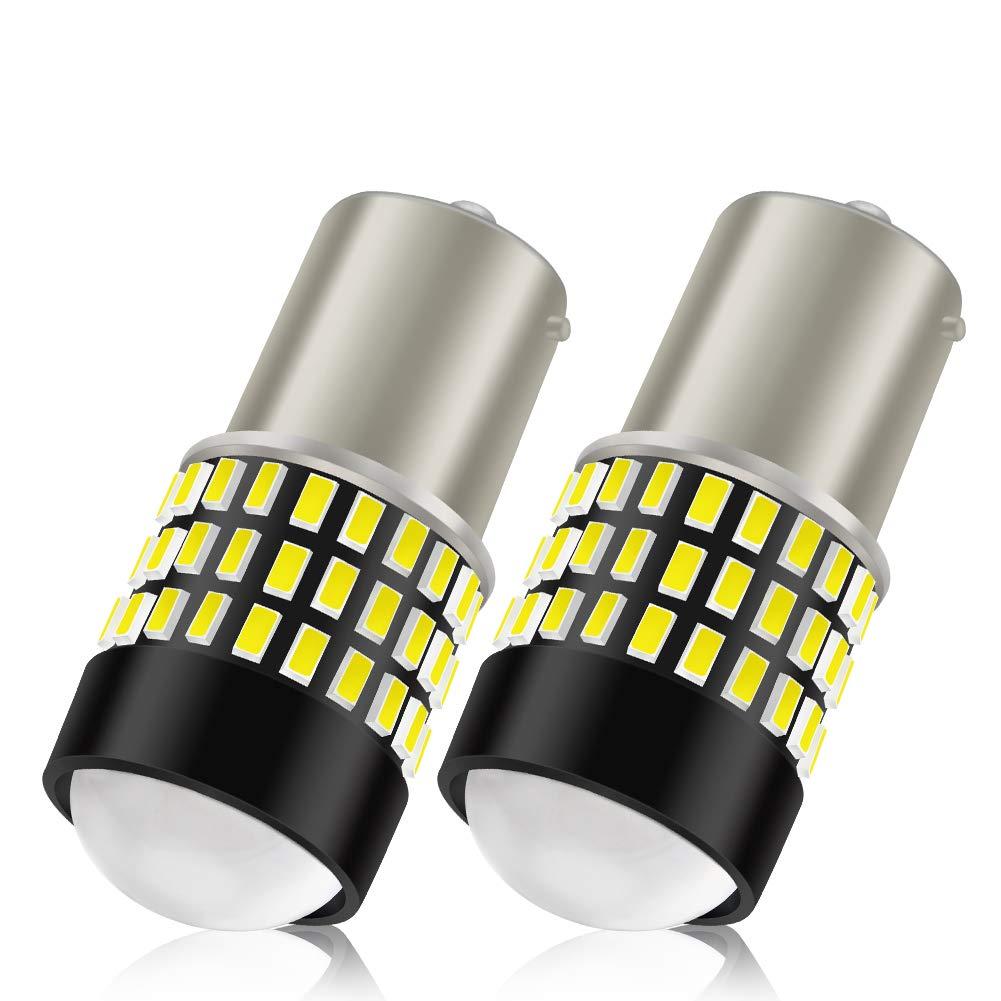 LncBoc T10 W5W Bombillas LED Coche 5SMD 5050LED 501 2825 175 192 168 194 Wedge Lampara para coches 6500K Xen/ón Blanco de interior y exterior 12V 2 Pack