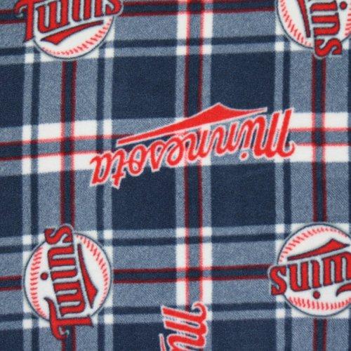 MLB Minnesota Twins Fleece Fabric - Sold By the - Fleece Minnesota Fabric Twins