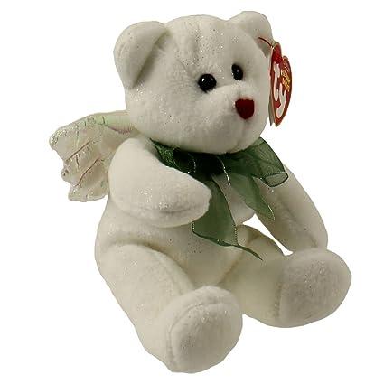 Amazon.com  1 X TY Beanie Baby - HARK the Angel Bear (White Version ... cbf7e5e5104