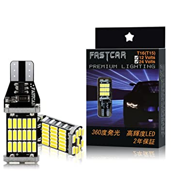 Car T10 T16 W16W T15 921 Bombilla LED blanca para luces de marcha atrás Cuña sin polaridad 1000 lúmenes DC12V DC24V 6000K CANBUS libre de errores: ...