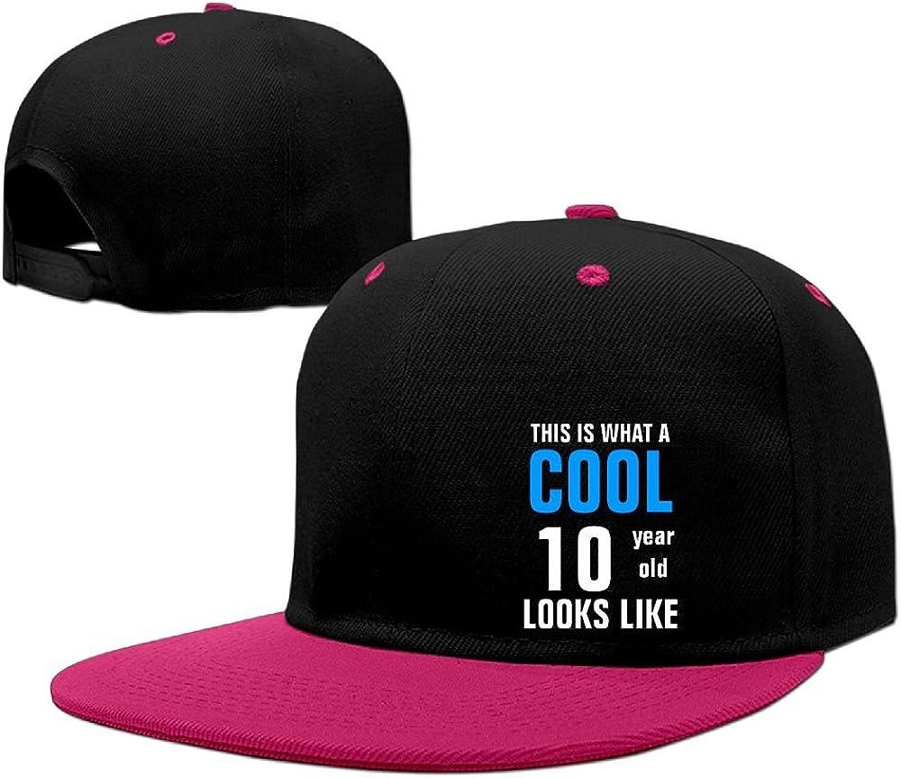 Kooiico Men&women Cool 10 Year Old Looks Like Hip Hop Hats Adjustable