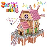 GBD Magic Windmill 3D Puzzle for kids, Jigsaw Dollhouse Model DIY Educational Toy ,Best Creative Music Box Learning Gifts for Girls Boys Birthday Christmas Gifts-23 Pieces