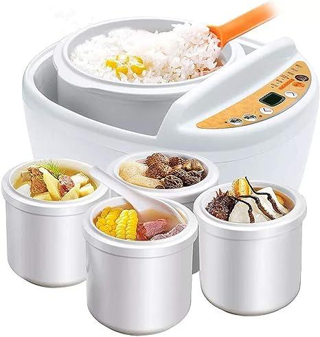 Opinión sobre HIGHKAS Vaporizador eléctrico de Alimentos múltiples, Olla arrocera casera Caldera eléctrica guisada eléctrica de Porcelana Blanca automática de 1 Paso, para Cocineros arroz Blanco, arroz Integral