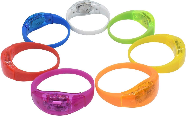 Light Up Flashing Bracelet Wristband Glow Blinking For Xmas Party
