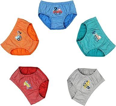 5-6 /& 7-8 years BOYS 5 PACK BRIEF Multi Pants Age 3-4