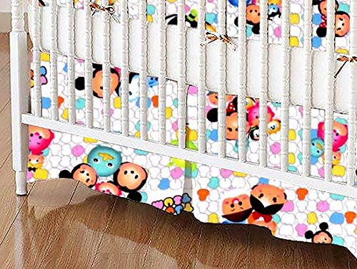 SheetWorld - Crib Skirt (28 x 52) - Tsum Tsum - Made in USA