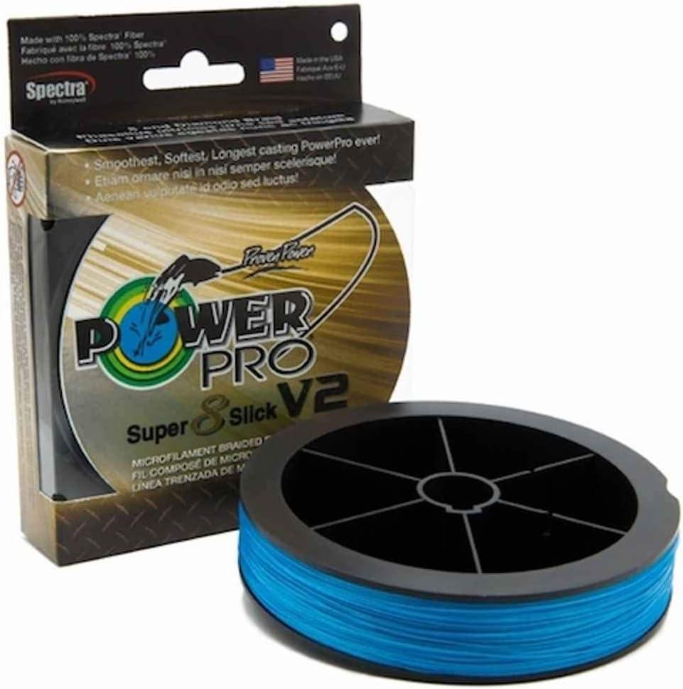 PowerPro スーパースリック V2 8ストランド 編組ライン ブルー グリーン 高視認性 オニキス 1500ヤード マリンブルー 1500yd 10lb