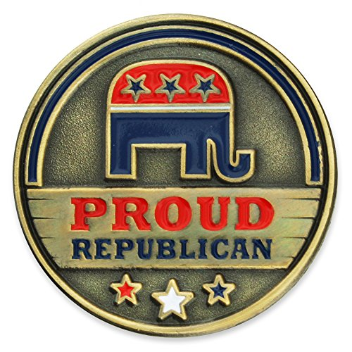 Elephant Republican Pin (PinMart Proud Republican Political Party Elephant Enamel Lapel Pin)