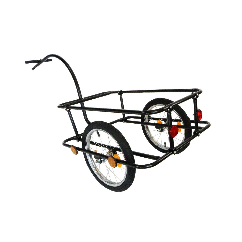 Oypla Carretilla de Remolque con Acoplamiento Bicicletas y neum/áticos neum/áticos 90L por Carretera