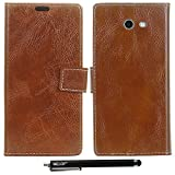 Case for Galaxy J7 2017/ / J7 V / J7 Prime / J7 Perx / J7 Sky Pro/ Galaxy Halo Case, MELOP Retro PU Leather Wallet Flip Magnet Case Cover with Credit ID Cards Slots for Samsung Galaxy J7 2017 - Brown