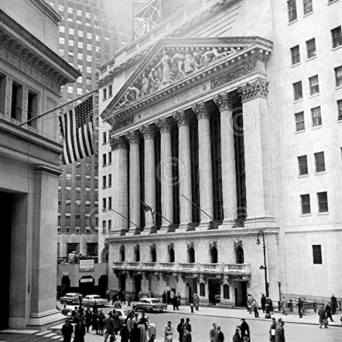(Bull Market Vintage Photography New York Stock Exchange Wall Street Poster (Choose Size of Print))