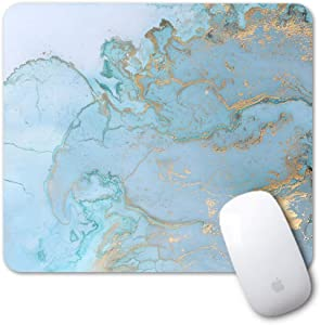 Artiron Mouse Pad, Rectangle Customized Gaming Mouse Mat Non-Slip Cute Mouse Pads with Funny Art Design for Computers Laptop, Ideal Partner for Working or Game 7.9x9.5inch (Blue Marble)