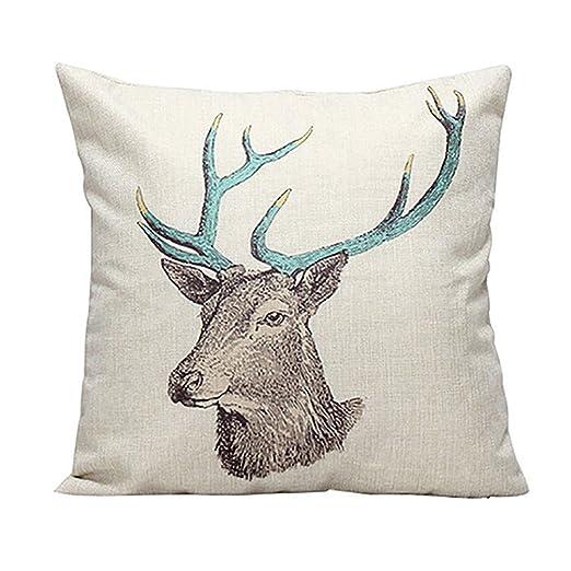 Retro Vintage Árbol de ciervo ciervos impresión lino manta ...