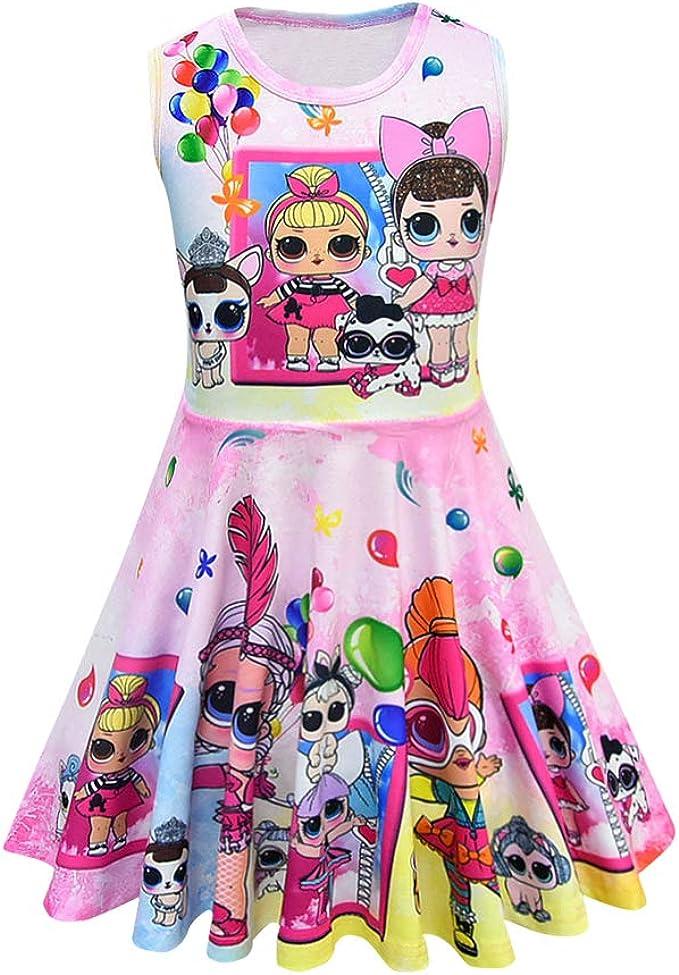 Amazon.com: MagJazzy vestido casual para niña sin mangas ...