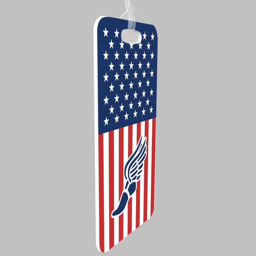 USA Track Custom Info on Back SMALL Track and Field Luggage /& Bag Tag