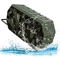 wuWawu Portable Bluetooth Speaker, 7W, IP66 Waterproof, Built-in Mic, Hands-Free Speakerphone, Outdoor Tough Design - Camouflage