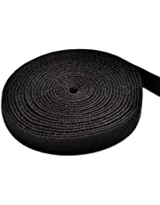 TFY Reusable Fastening Tape,0.75 Inches x 180 Inches (BLACK)