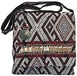 Tribal Pattern Boho Cross Body Hobo Messenger Bag