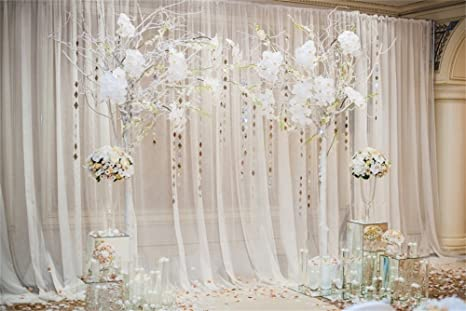 Amazon laeacco 10x65ft vinyl backdrop photography background laeacco 10x65ft vinyl backdrop photography background beautiful wedding ceremony design decoration elements arch chairs junglespirit Image collections