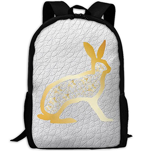 Toddler Soccer Player Halloween Costume (Gold Rabbit Star Double Shoulder Backpacks For Adults Traveling Bags Full Print Fashion)
