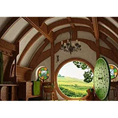 Classic Jigsaws Puzzle 300 Piece, Kids and Dults Jigsaw Puzzle Doors House Lord of The Rings Hobbits, DIY Creative Leisure Toy: Toys & Games
