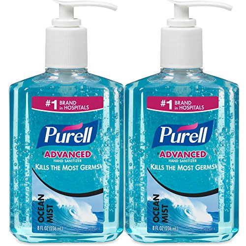 PURELL 8oz Ocean Mist Blue Instant Advanced Personal Hand Sanitizer Care, ()
