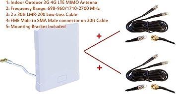 Antena MIMO 3G 4G LTE para Interiores y Exteriores, Banda Ancha para Huawei B310 B315 LTE CPE
