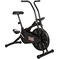 Powermax Fitness Air Bike Exercise Cycle for Weight Loss at Home with Fixed Handles | Exercise Equipment for Home Gym (Model-BU-203)