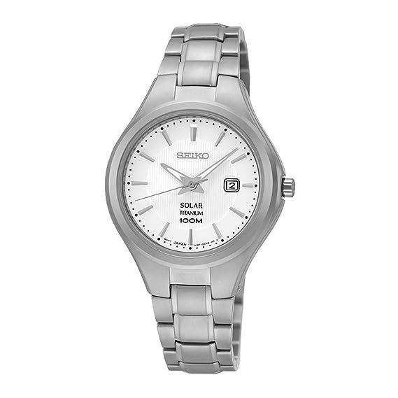 Reloj Seiko Solar Sut199p1 Mujer Blanco