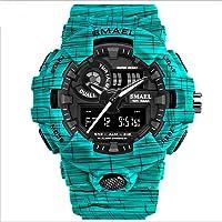 SMAEL Marca De Lujo Vaquero Sport Watch Nuevos Hombres Relojes Analógicos Ejército Digital Writwatch 8001 Reloj Impermeable Hombres