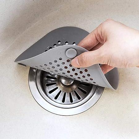 Cucina Bagno Anti-intasamento Filtro Di Scarico A Pavimento Filtro Per Capelli Tappo Per Capelli Grigio 21sandwhick Filtro Per Lavello