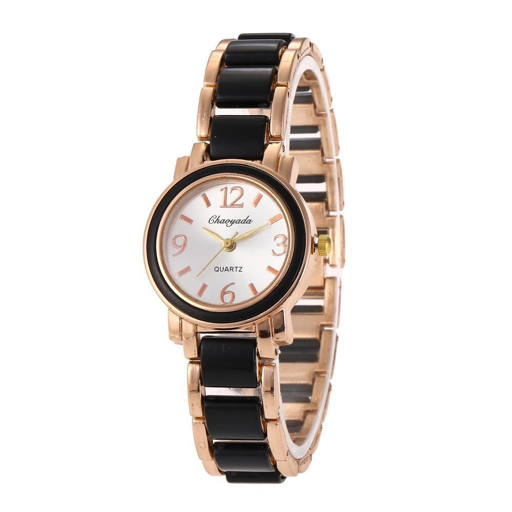 HWCOO Reloj de pulsera de mujer reloj de imitación de cerámica de moda Diamantes de mujer reloj de estudiante británico (Color : 1) : Amazon.es: Relojes