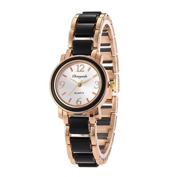 HWCOO Reloj de pulsera de mujer reloj de imitación de cerámica de moda Diamantes de mujer