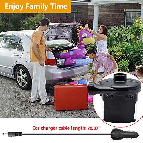 ONG NAMO Electric Air Pump for Inflatables Portable Quick Air Pump with 3 Nozzles for Air Mattresses