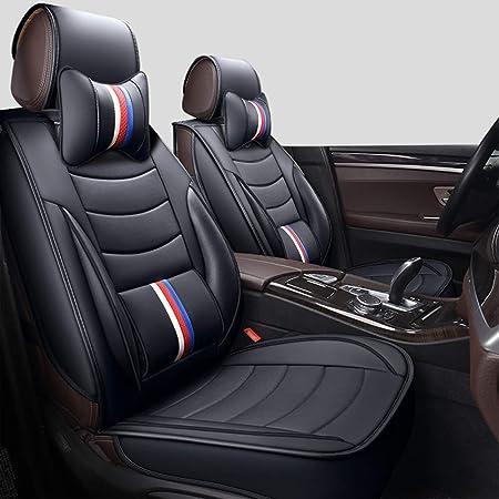 Fundas de asiento de coche de piel delanteras y traseras universales para coche 5 plazas impermeables