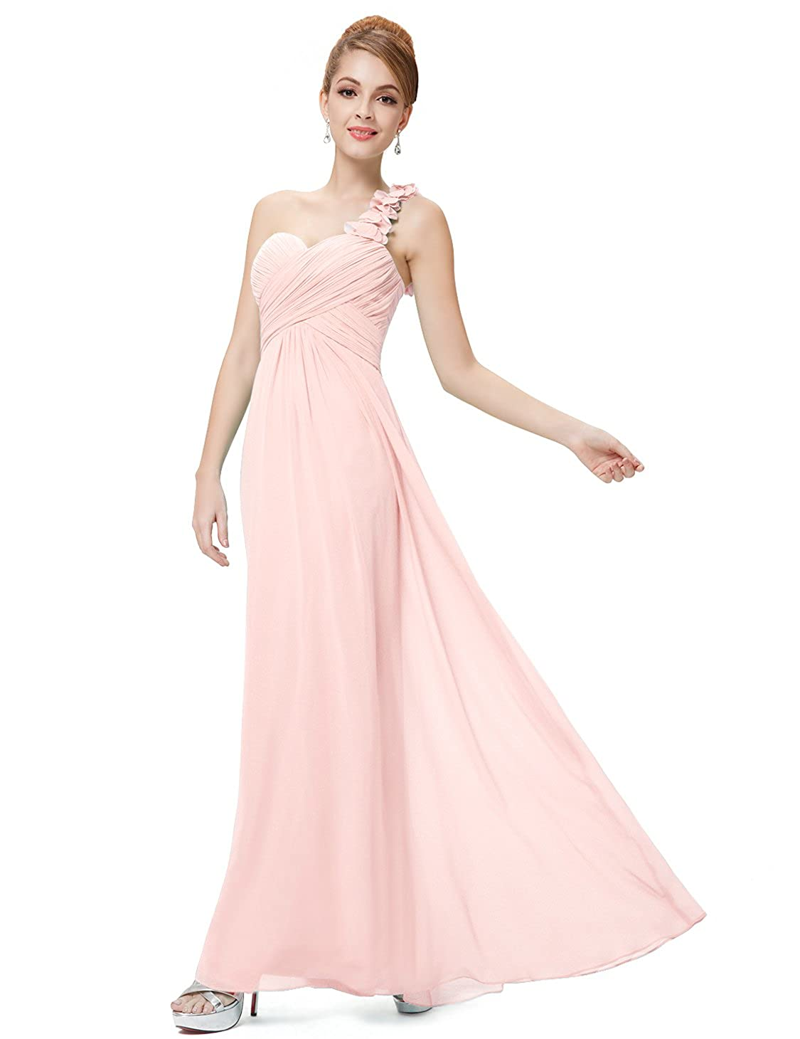 5f5a9222c Ever-Pretty Flower One Shoulder Empire Waist Floor Length Bridesmaids Dress  09768 at Amazon Women's Clothing store: