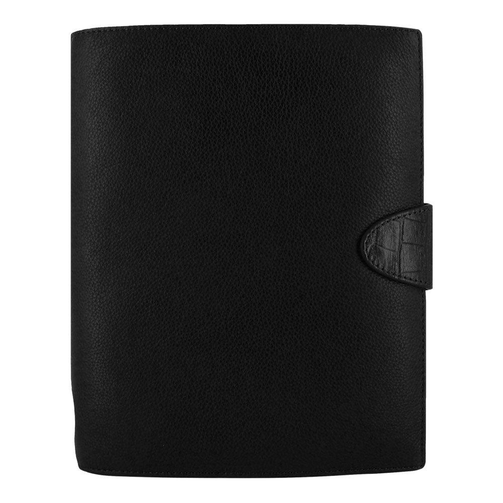 Filofax A5 Calipso Leather Organizer Agenda Black 2016 Diary Calendar with DiLoro Jot Pad refill 022463