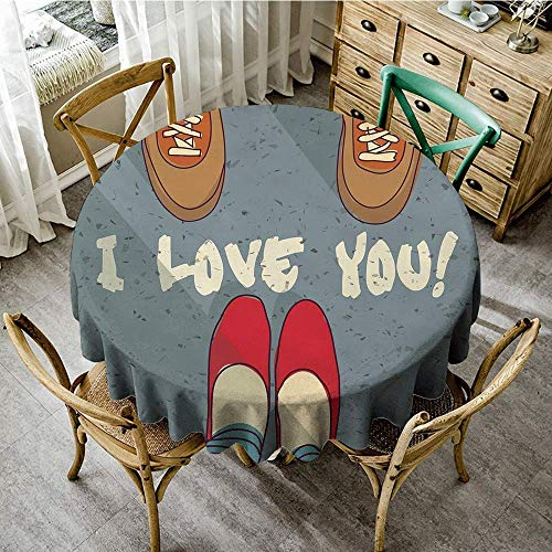 DONEECKL Restaurant Tablecloth I Love You and Woman Feet Couples Togetherness Valentines Life Romance Flirt Graphic Table Decoration D39 Multicolor