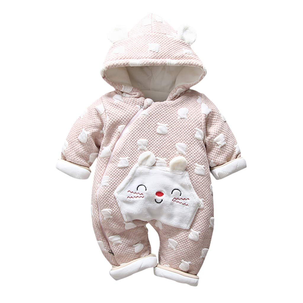 Baby Clothes Set,Newborn Toddler Baby Boys Girls Hooded Romper Jumpsuit Thickened Outfits Clothes