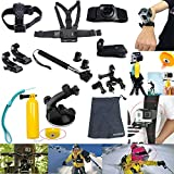 AVAWO 12-in-1 Outdoor Sports Essentials GoPro Accessories Kit for GoPro HERO4 HERO3+ GoPro HERO3 GoPro HERO2 and GoPro HERO Action Cameras